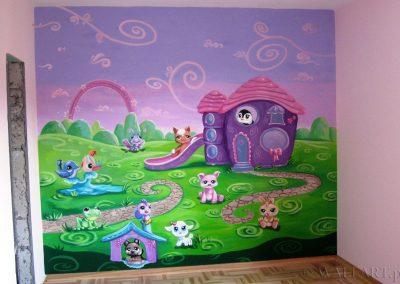 malowidło w pokoju dziecka
