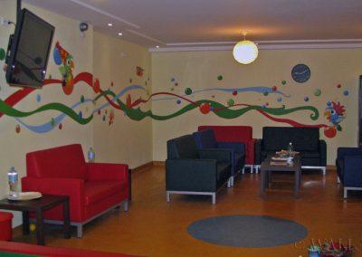 wzory na ścianach