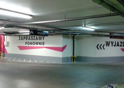 pomalowane ściany - SIW oznakowanie parkingu
