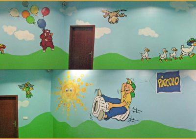 pomalowane ściany