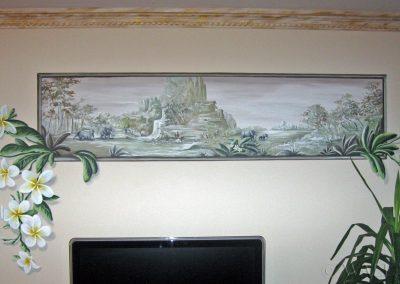 namalowany obraz na ścianie