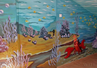pomalowana sala zabaw - podwodny świat