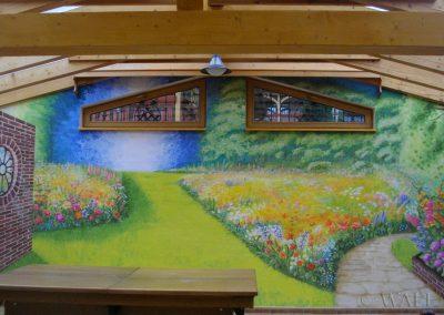 pomalowana ściana