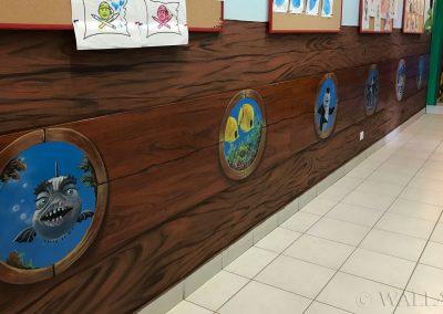 wykonane malowidło - korytarz