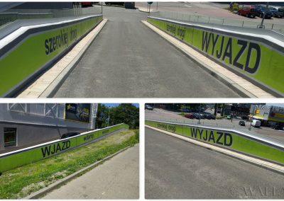 pomalowany mur - Tauzen Park