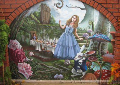 wykonane malowidło - Alicja w Krainie Czarów