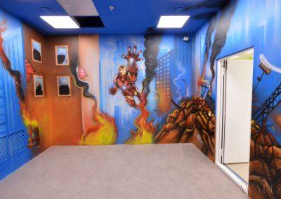 pomalowane ściany - Avengers