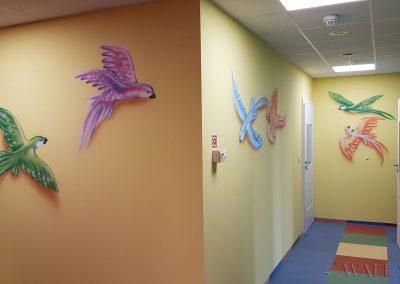 namalowane papugi