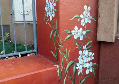 painted wall - flowers