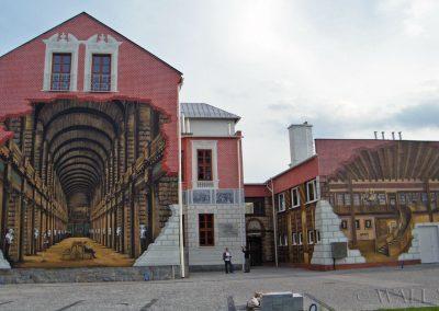 wykonany mural - biblioteka publiczna w Ustroniu