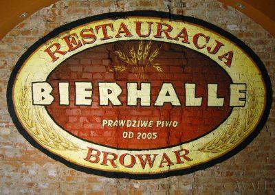 wykonane malowidło - logo Bierhalle