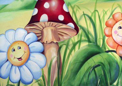 wykonane malowidło Chatka Skrzatka przedszkole