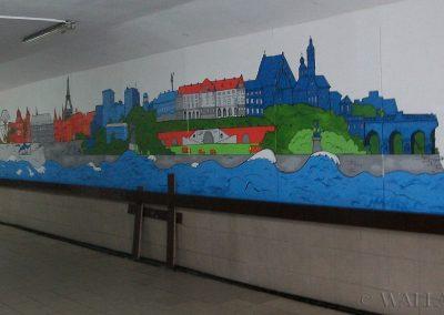 pomalowana ściana - Dni Francji mural