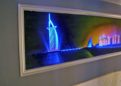 malowidło fluorescencyjne UV - Dubaj