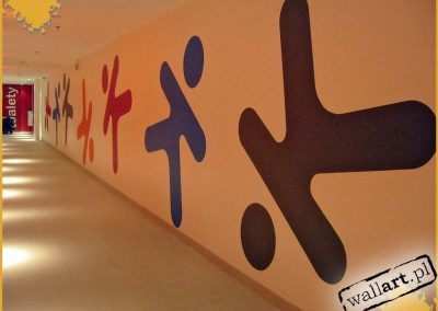 pomalowany korytarz - centrum handlowe Karolinka