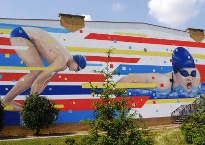 mural pływacy