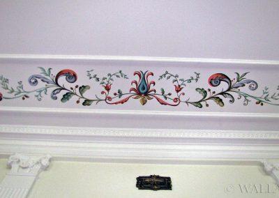 ornamenty na ścianie