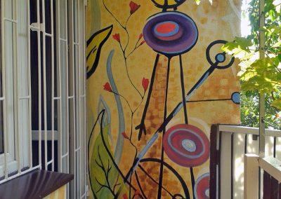 malowidło ścienne na balkonie