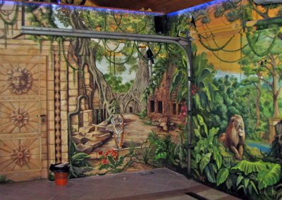 wykonane malowidło w garażu