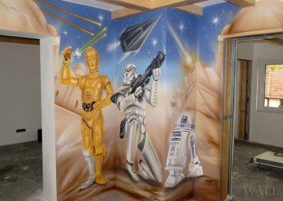 pomalowana ściana - Gwiezdne Wojny