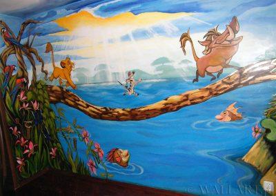 wykonane malowidło - król lew