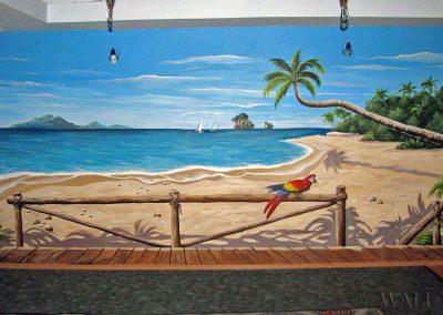 wykonane malowidło - plaża