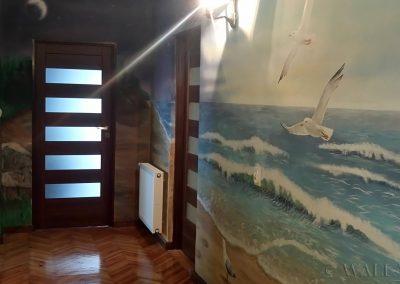 wykonane malowidło - morze