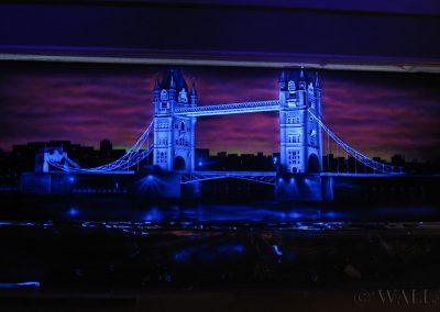 malowidło fluorescencyjne UV - Londyn - Tower Bridge