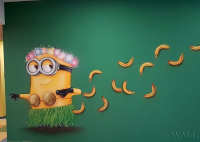 wykonane malowidło - minionki