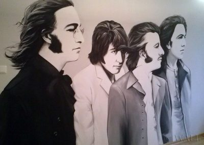wykonane malowidło - Beattles