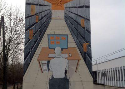 wykonany mural - Instytut Pamięci Narodowej IPN