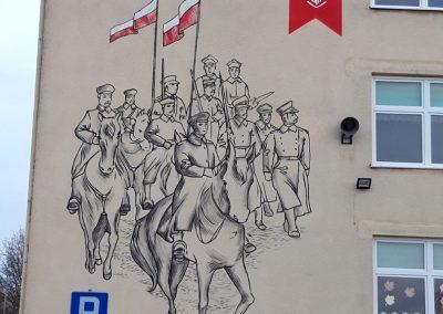 wykonany mural patriotyczny