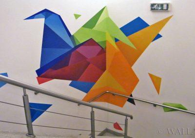 wykonane malowidło origami