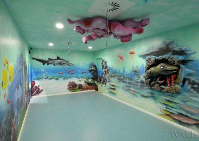 pomalowana ściana - rafa