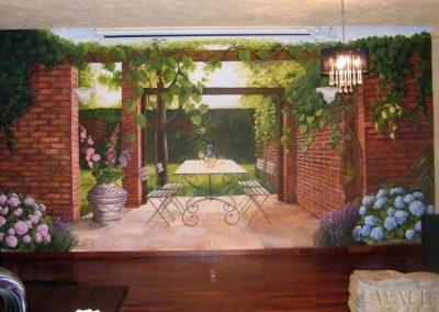 wykonane malowidło w restauracji