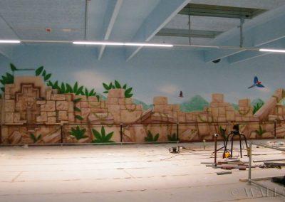 malowidła ścienne - ruiny