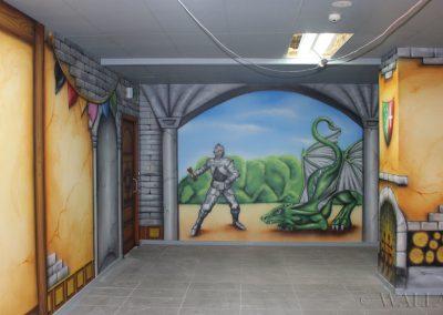 pomalowany pokój - rycerz