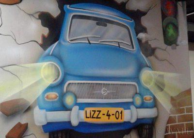 wykonane malowidło - samochód