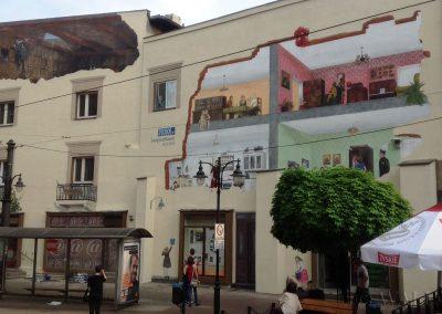 wykonany mural na kamienicy - Świętochłowice
