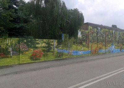 wykonany mural na murze