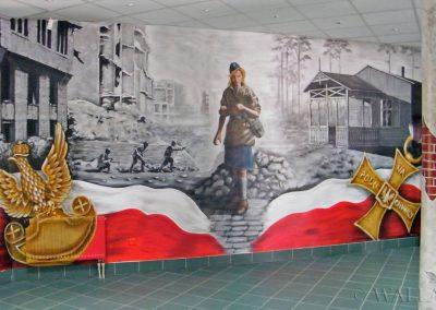 wykonany mural w szkole