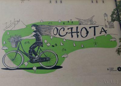 namalowany mural - szkoła podstawowa Ochota, Warszawa