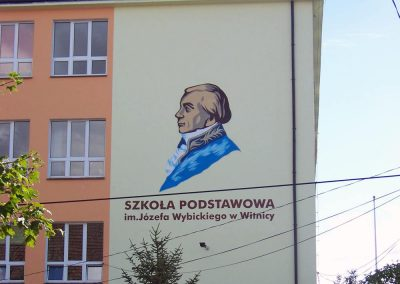 mural na ścianie - Witnica