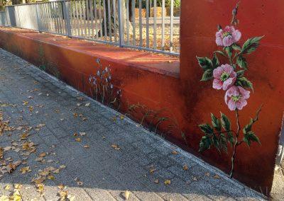 pomalowany murek