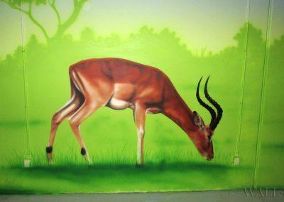 malowidło ścienne - antylopa