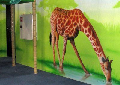 malowidło ścienne - żyrafa