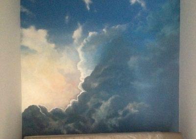 namalowane chmury