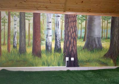 namalowane drzewa