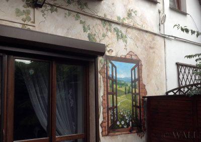 pomalowana ściana - namalowane okno