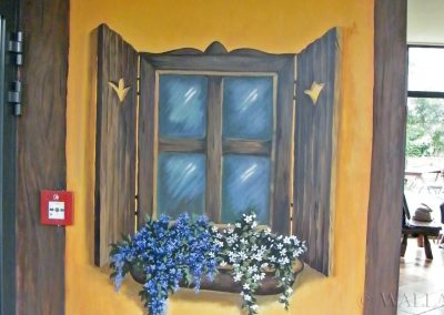 wykonane malowidło - namalowane okno